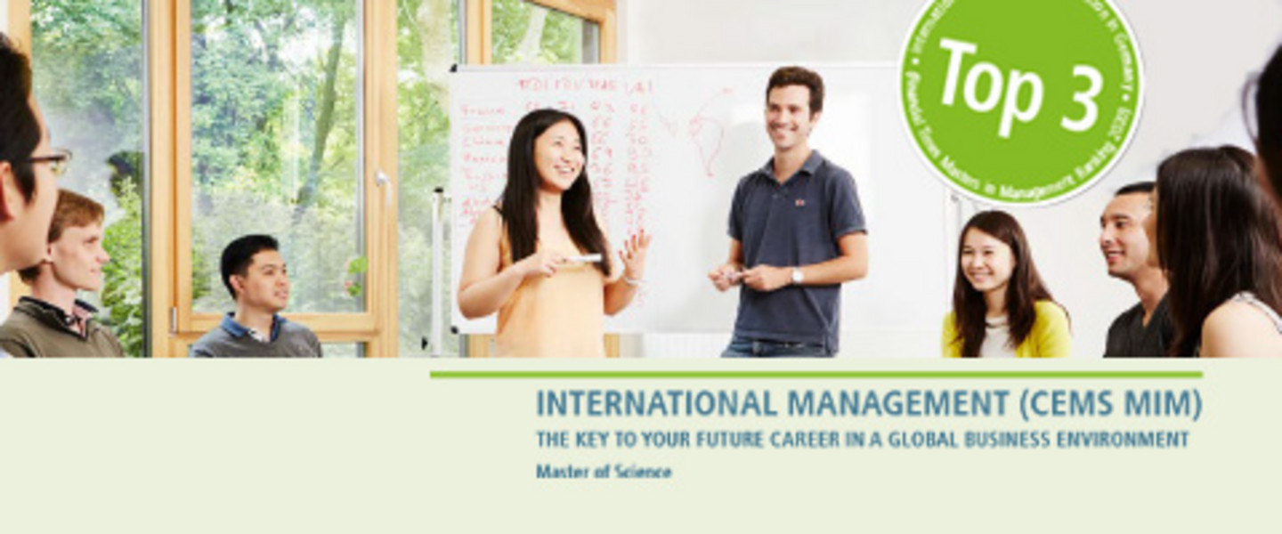 Programme-keyvisual Master International Management (CEMS MIM) - The Key to your Future career in a global Business Environment - Master of Science