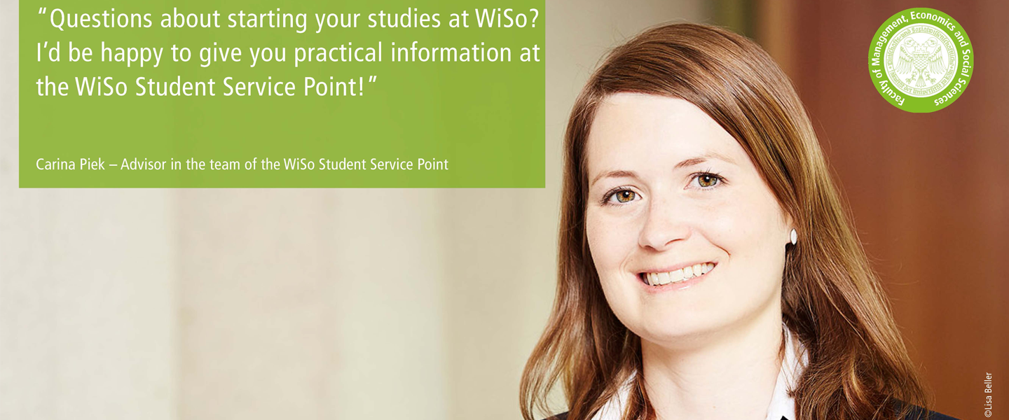WiSo Student Service Point - starting on May 28, 2019