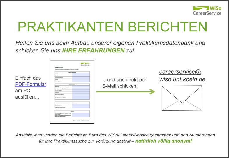 internship reports - Wiso Bewerbung